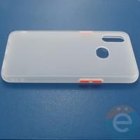 Накладка пластиковая матовая с силиконовой окантовкой для Samsung Galaxy A10S белая