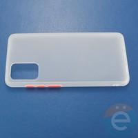 Накладка пластиковая матовая с силиконовой окантовкой для Samsung Galaxy S11 белая