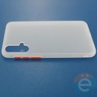 Накладка пластиковая матовая с силиконовой окантовкой для Huawei Nova 5 белая