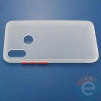 Накладка пластиковая матовая с силиконовой окантовкой для Xiaomi Redmi Note 7 белая