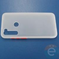 Накладка пластиковая матовая с силиконовой окантовкой для Xiaomi Redmi Note 8T белая