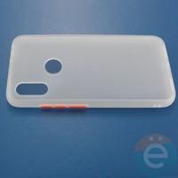 Накладка пластиковая матовая с силиконовой окантовкой для Xiaomi Redmi 7 белая