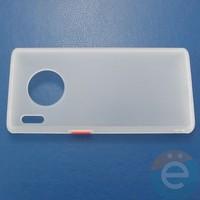 Накладка пластиковая матовая с силиконовой окантовкой для Huawei Mate 30 Pro белая
