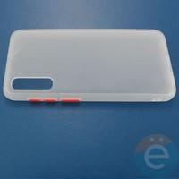 Накладка пластиковая матовая с силиконовой окантовкой для Samsung Galaxy A50 белая