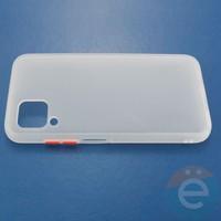 Накладка пластиковая матовая с силиконовой окантовкой для Huawei Nova 6SE белая