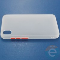 Накладка пластиковая матовая с силиконовой окантовкой для Xiaomi Redmi 7A белая