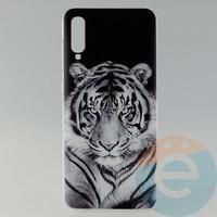 Накладка силиконовая с рисунком для Samsung A70 Тигр