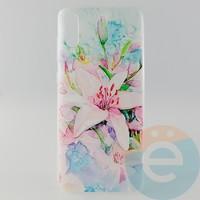 Накладка силиконовая с рисунком для Samsung A70 Цветы