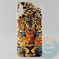 Накладка силиконовая с рисунком для Samsung A70 Леопард