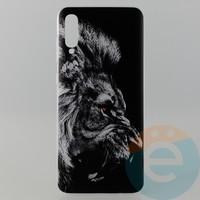 Накладка силиконовая с рисунком для Samsung A70 Лев