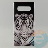 Накладка силиконовая с рисунком для Samsung S10+ Тигр