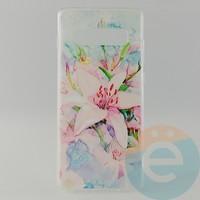 Накладка силиконовая с рисунком для Samsung S10+ Цветы