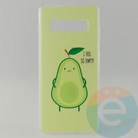 Накладка силиконовая с рисунком для Samsung S10+ Авокадо