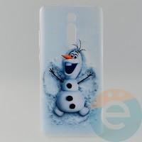 Накладка силиконовая с рисунком для Xiaomi K20 Pro Снеговик Олаф
