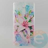 Накладка силиконовая с рисунком для Xiaomi K20 Pro Цветы