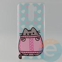 Накладка силиконовая с рисунком для Xiaomi Note 8 Pro Пушинка