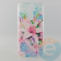 Накладка силиконовая с рисунком для Xiaomi Note 8 Pro Цветы