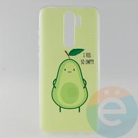 Накладка силиконовая с рисунком для Xiaomi Note 8 Pro Авокадо