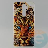 Накладка силиконовая с рисунком для Xiaomi Note 8 Pro Леопард