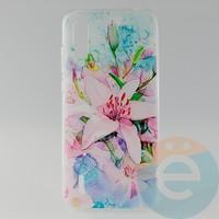 Накладка силиконовая с рисунком для Xiaomi Mi 9 Lite Цветы
