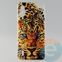 Накладка силиконовая с рисунком для Xiaomi Mi 9 Lite Леопард