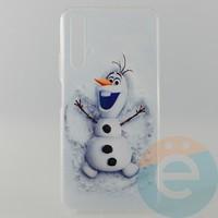 Накладка силиконовая с рисунком для Huawei Honor 20 Снеговик Олаф