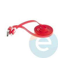 USB кабель Noodle Flat на Lightning плоский красный