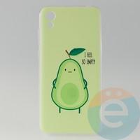 Накладка силиконовая с рисунком для Huawei Honor 8s Авокадо