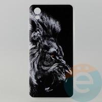 Накладка силиконовая с рисунком для Huawei Honor 8s Лев