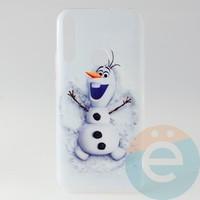 Накладка силиконовая с рисунком для Huawei Honor 9x Снеговик Олаф