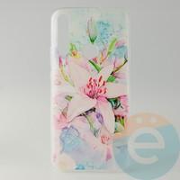 Накладка силиконовая с рисунком для Huawei Honor 9x Цветы