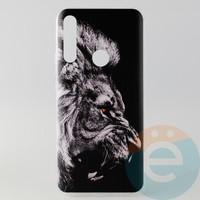 Накладка силиконовая с рисунком для Huawei Honor 9x Лев