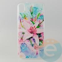 Накладка силиконовая с рисунком для Xiaomi Redmi 7A Цветы