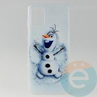 Накладка силиконовая с рисунком для Samsung A71 Снеговик Олаф