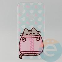 Накладка силиконовая с рисунком для Xiaomi Redmi Note 7 Пушинка