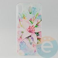 Накладка силиконовая с рисунком для Xiaomi Redmi Note 7 Цветы