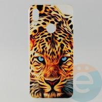Накладка силиконовая с рисунком для Xiaomi Redmi Note 7 Леопард