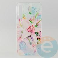 Накладка силиконовая с рисунком для Xiaomi Note 8 Цветы
