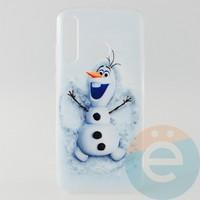 Накладка силиконовая с рисунком для Huawei Honor 20 Lite Снеговик Олаф