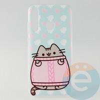 Накладка силиконовая с рисунком для Huawei Honor 20 Lite Пушинка