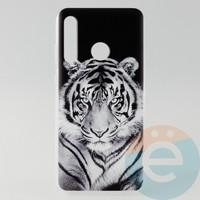 Накладка силиконовая с рисунком для Huawei Honor 20 Lite Тигр