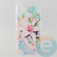 Накладка силиконовая с рисунком для Huawei Honor 20 Lite Цветы