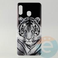 Накладка силиконовая с рисунком для Samsung A30 Тигр