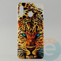 Накладка силиконовая с рисунком для Samsung A30 Леопард