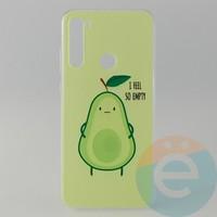 Накладка силиконовая с рисунком для Xiaomi Note 8T Авокадо