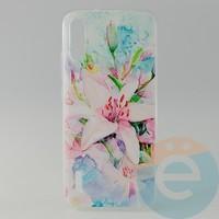 Накладка силиконовая с рисунком для Xiaomi CC9E Цветы