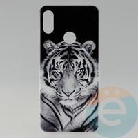 Накладка силиконовая с рисунком для Huawei Y6 2019/Honor 8a Тигр