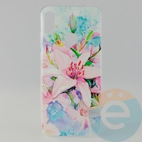 Накладка силиконовая с рисунком для Huawei Y6 2019/Honor 8a Цветы