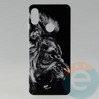 Накладка силиконовая с рисунком для Huawei Y6 2019/Honor 8a Лев