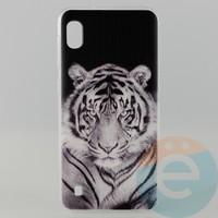 Накладка силиконовая с рисунком для Samsung A10 Тигр